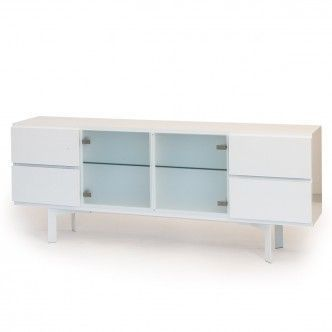 Mup sideboard with diagonal legs W 208 D 39 H 83 cm